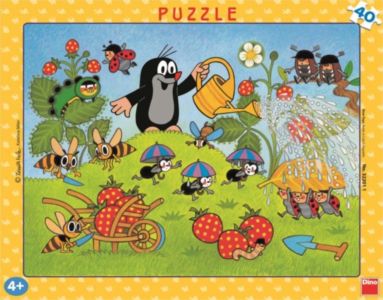 DINO Puzzle Krtek a jahody 40 dílků
