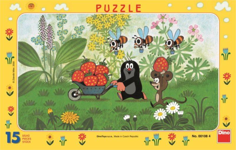 DINO Puzzle Krtek a jahody 15 dílků