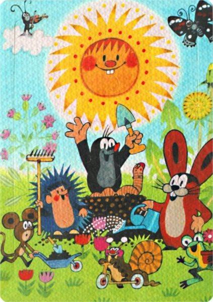 Pěnové puzzle 24 dílků - Krtek a jeho kamarádi