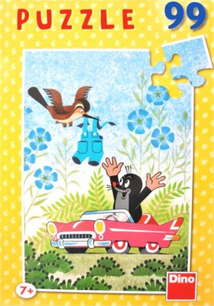 Dětské puzzle DINO 99 dílků - Krtek a kalhotky, v autíčku