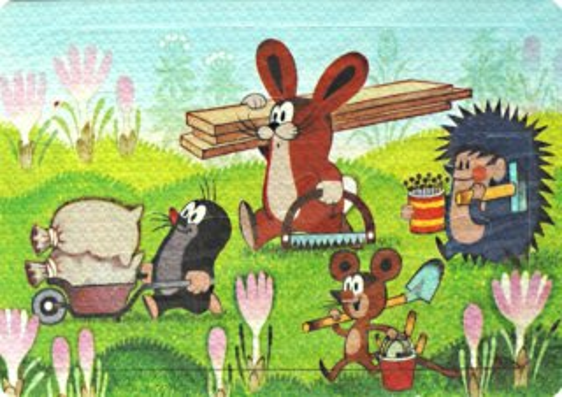 Pěnové puzzle Krtek a kamarádi pracují 12 dílků