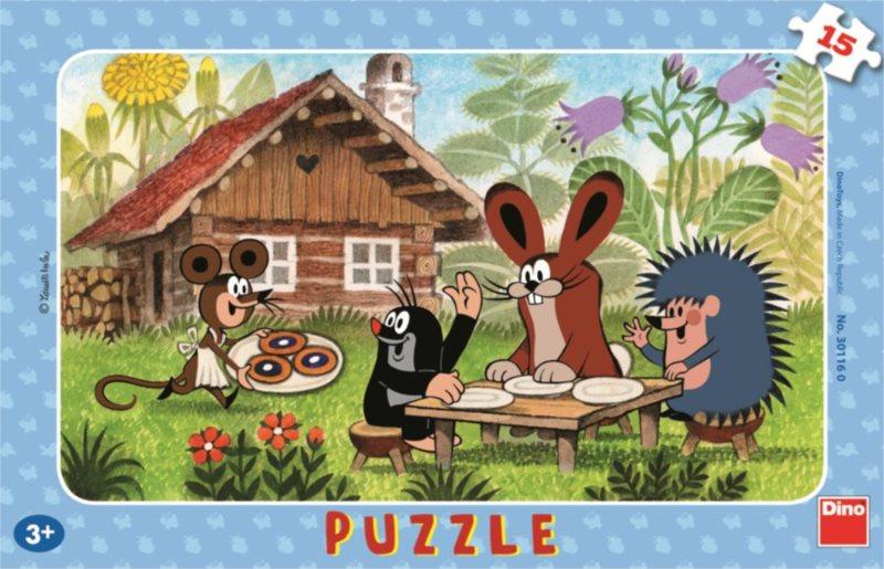 DINO Puzzle Krtek a koláče 15 dílků