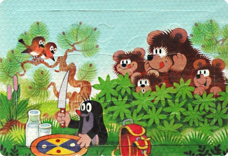 Pěnové puzzle Krtek a mlsní medvědi 12 dílků