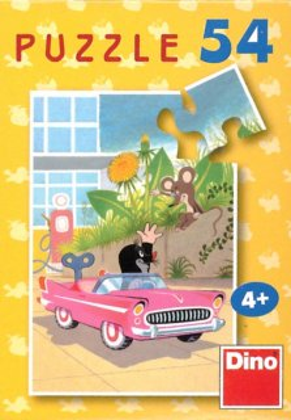 Dětské puzzle DINO 54 dílků - Krtek - autíčko