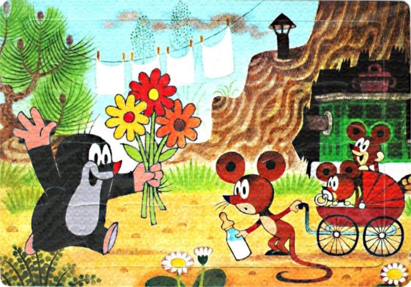 Pěnové puzzle 24 dílků - Krtek přeje myšce