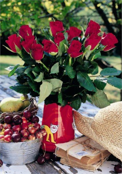 DINO Puzzle Kytice růží XXL s 1:1 předlohou, 500 dílků