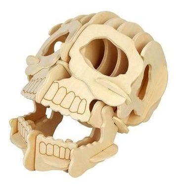 3D dřevěné puzzle Lebka