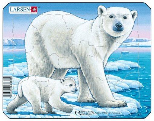 LARSEN Puzzle Lední medvědi 12 dílků
