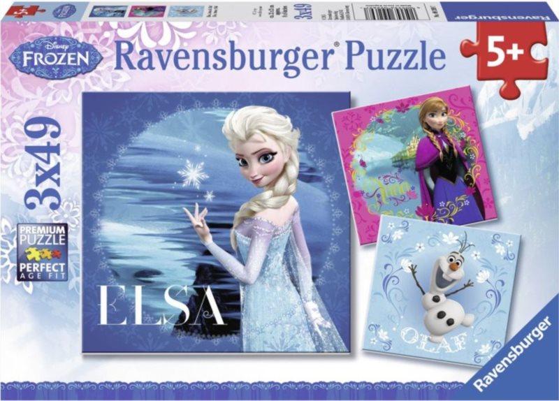 RAVENSBURGER Puzzle Ledové království 3x49 dílků