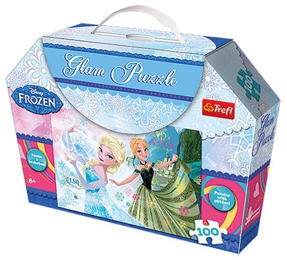 TREFL Třpytivé puzzle Ledové království 100 dílků