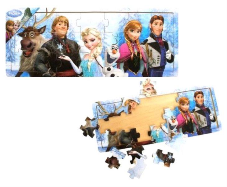 PLAYME Dřevěné puzzle Ledové království 21 dílků