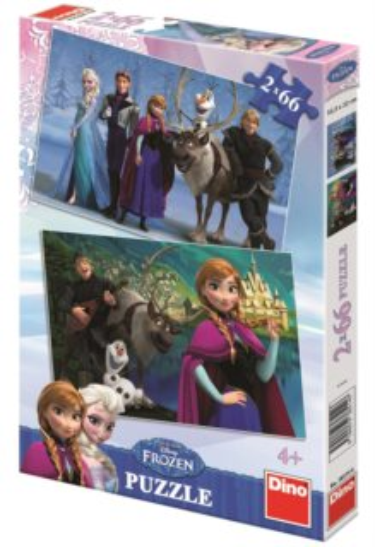 Dětské puzzle DINO 2x 66 dílků - Ledové království 2v1