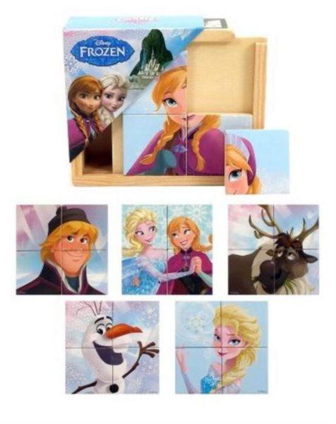 PLAYME Dřevěné puzzle Ledové království 6x4 dílky