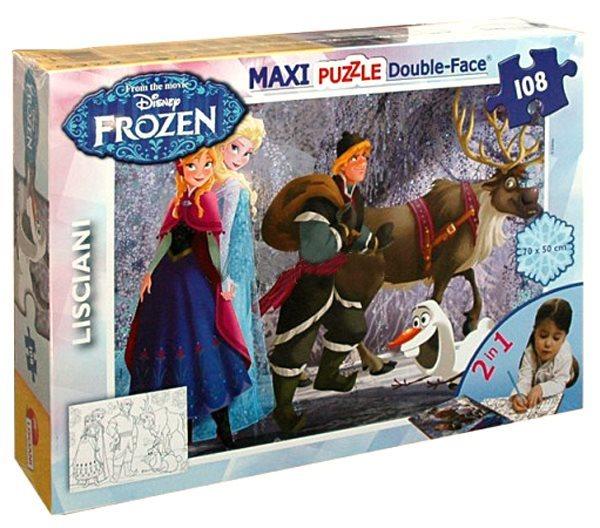 LISCIANI Puzzle Ledové království: Anna a Elsa MAXI 108 dílků