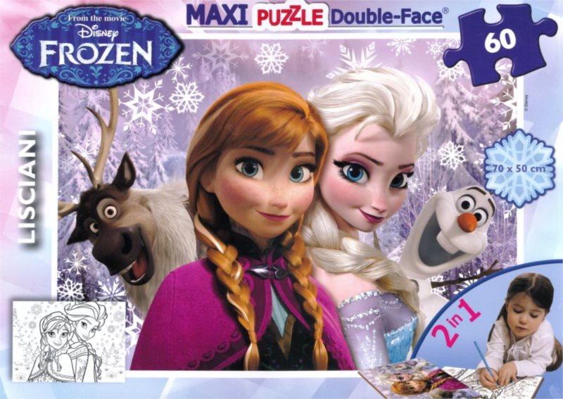 LISCIANI Puzzle Ledové království: Anna a Elsa MAXI 60 dílků