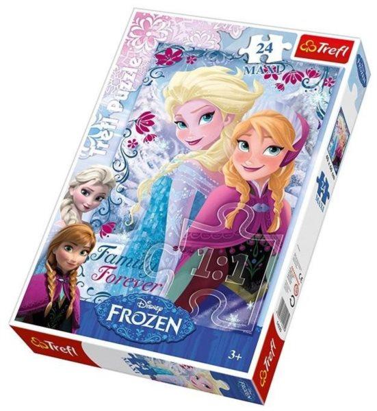 TREFL Puzzle Ledové království: Rodina navždy MAXI 24 dílků