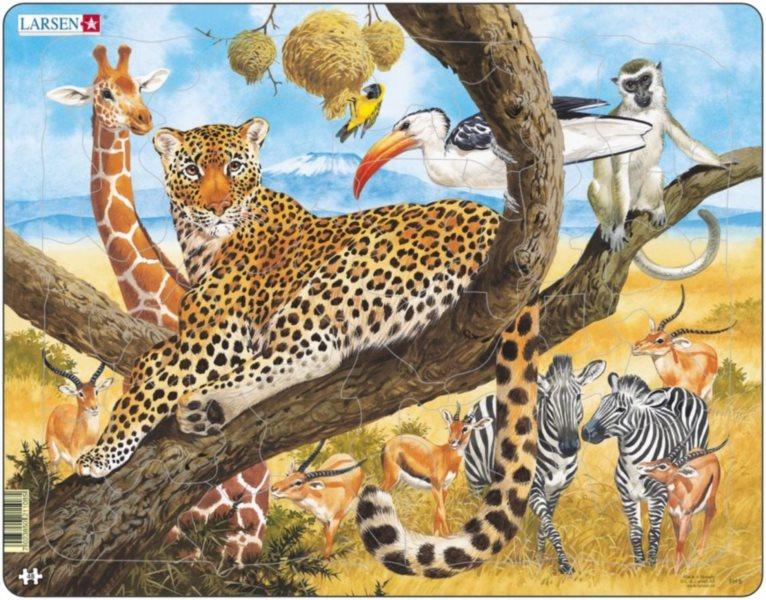 LARSEN Puzzle Leopard 48 dílků