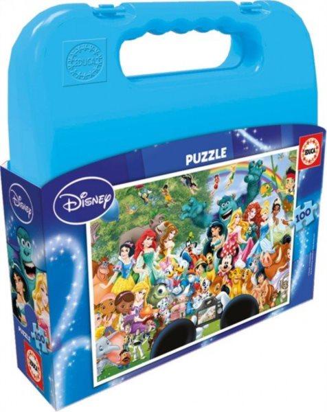 EDUCA Puzzle v kufříku Disney: Společné foto 100 dílků