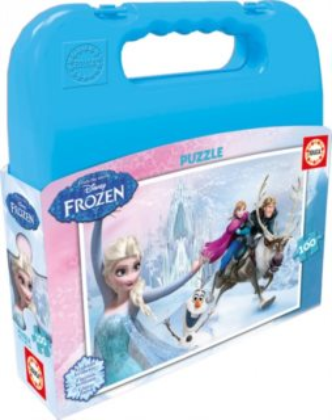 EDUCA Puzzle v kufříku Ledové království: Vyrážíme 100 dílků
