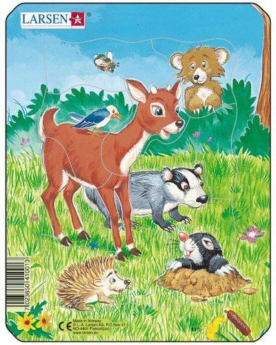 LARSEN Puzzle Lesní zvířátka 10 dílků