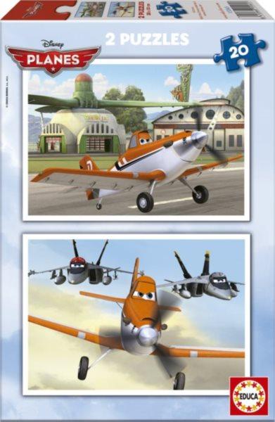 EDUCA Puzzle Letadla 2x20 dílků