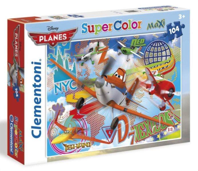 CLEMENTONI Puzzle Letadla: Hrdinové nebe MAXI 104 dílků