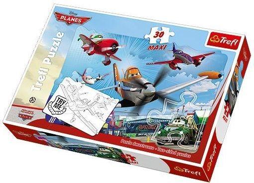 TREFL Oboustranné puzzle Letadla MAXI 30 dílků