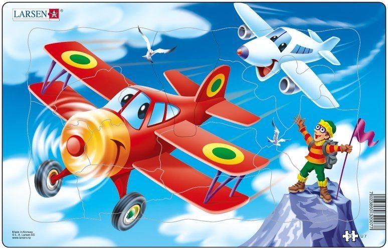 LARSEN Puzzle Letadla s horolezcem 13 dílků