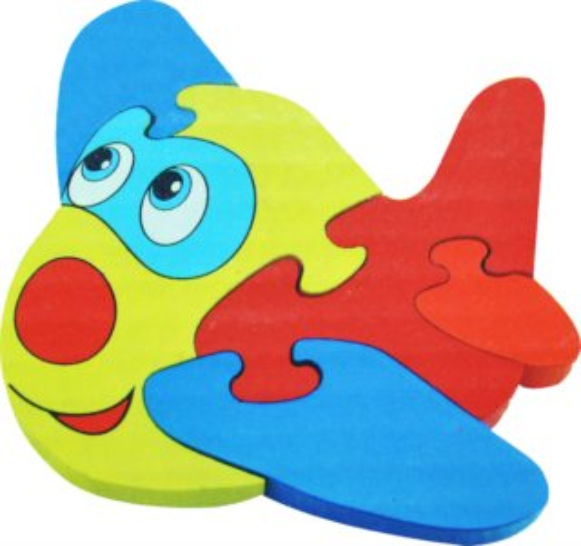 Dřevěné puzzle pro nejmenší, Letadlo 2