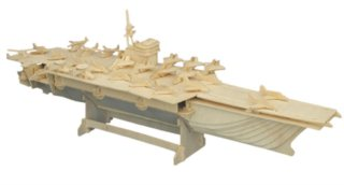 WOODEN TOY , WCK 3D puzzle Letadlová loď