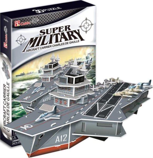 CUBICFUN 3D puzzle Letadlová loď Charles De Gaulle 60 dílků