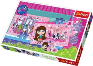 TREFL Lumi Color Puzzle Littlest Pet Shop 2x50 dílků