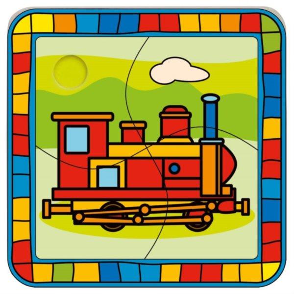 Dřevěné puzzle BINO 88008 Lokomotiva