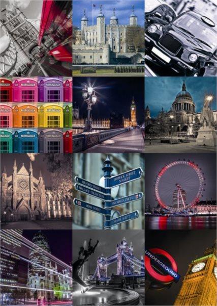DINO Puzzle Londýn - koláž 2000 dílků