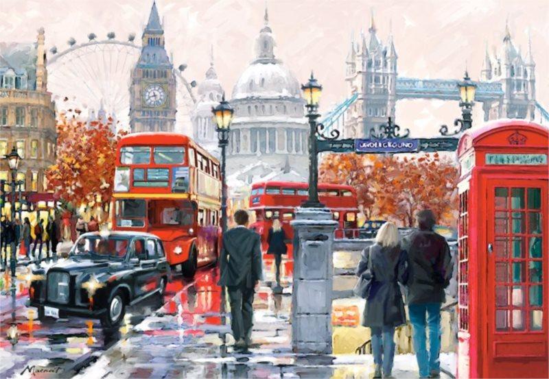Puzzle CASTORLAND 1000 dílků - Londýn (koláž)