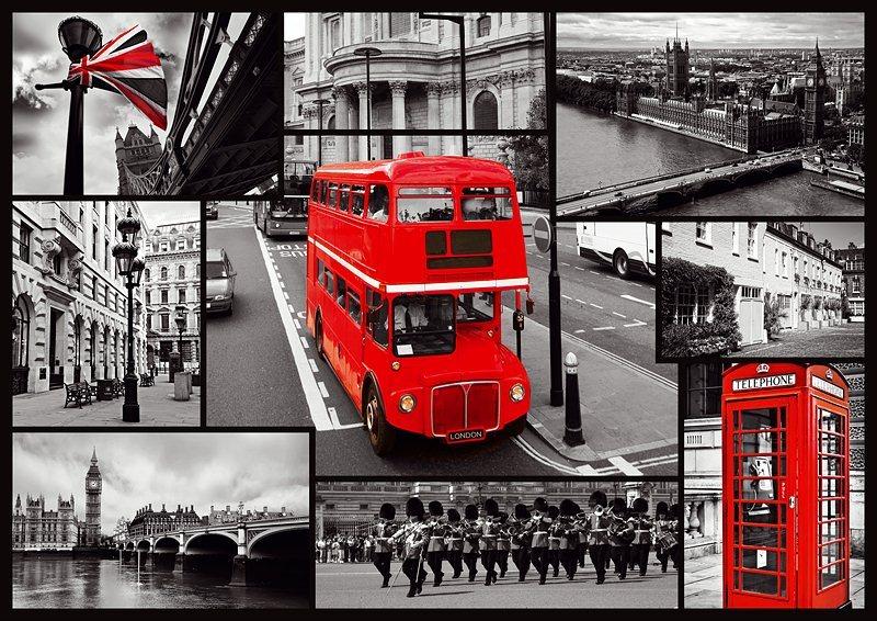 Puzzle TREFL 1000 dílků - Londýn - koláž