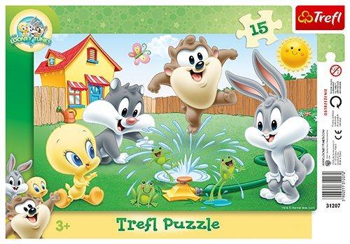 TREFL Puzzle Looney Tunes: Zábava na zahradě 15 dílků