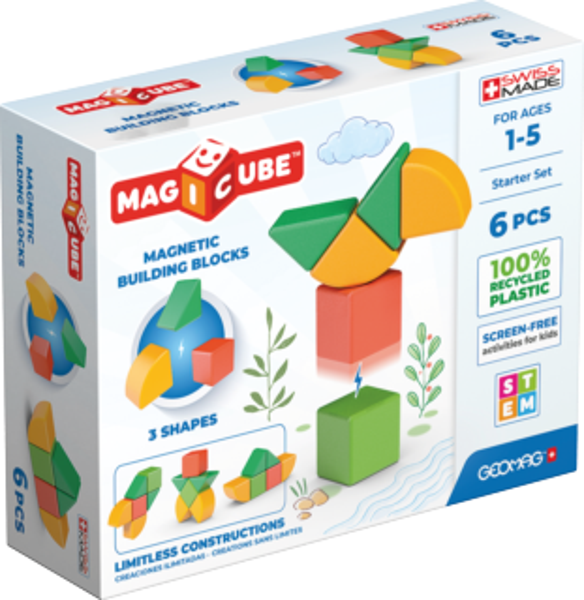GEOMAG Magnetické kostky Magicube Shapes 6 kostek
