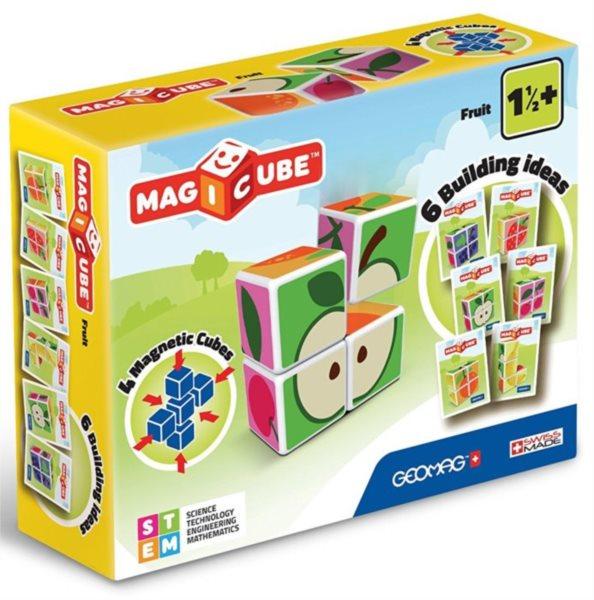 GEOMAG Magnetické kostky Magicube Ovoce