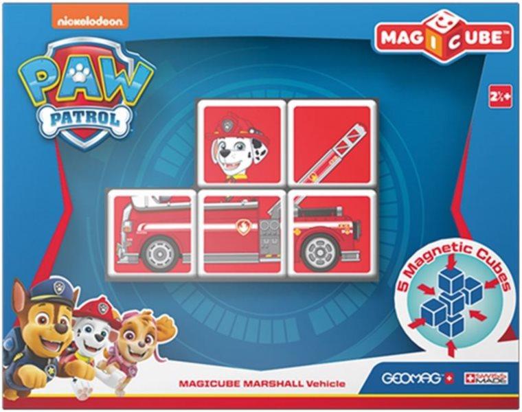 GEOMAG Magnetické kostky Magicube Tlapková patrola - Marshall v hasičském autě
