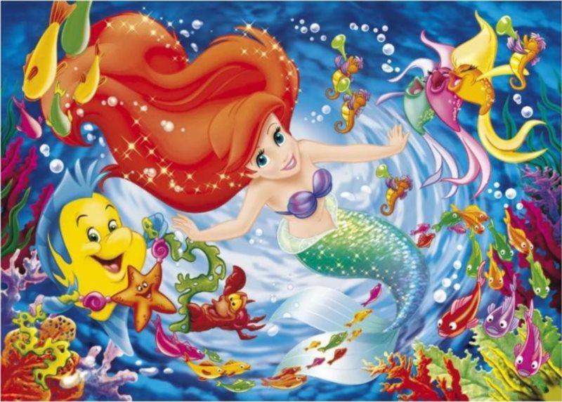 CLEMENTONI Puzzle Malá mořská víla 104 dílků