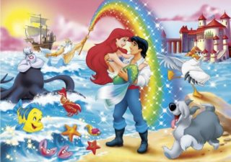 CLEMENTONI Puzzle Malá mořská víla MAXI 24 dílků