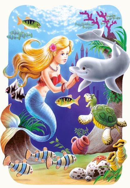 CASTORLAND Puzzle Malá mořská víla 30 dílků