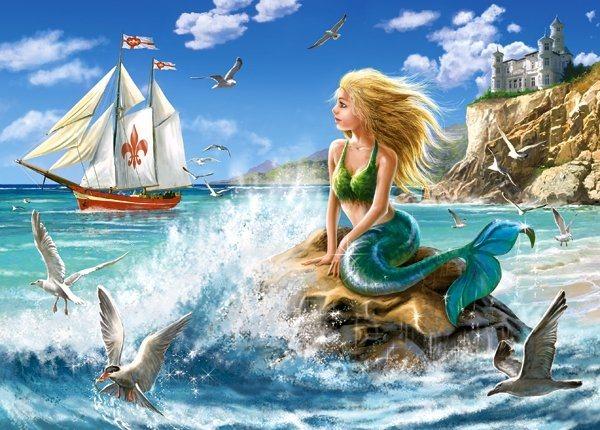 CASTORLAND Puzzle Malá mořská víla 108 dílků