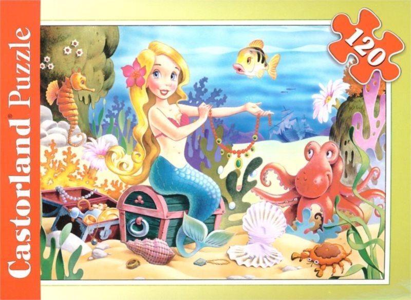 CASTORLAND Puzzle Malá mořská víla a poklad 120 dílků
