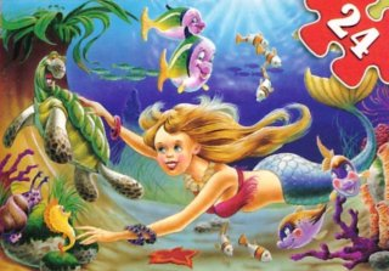 CASTORLAND Puzzle Malá mořská víla II. 24 dílků
