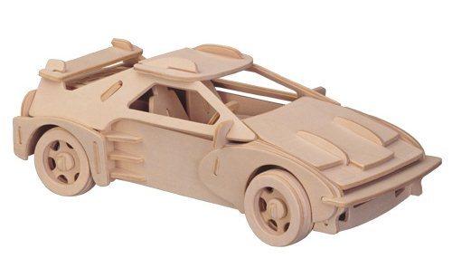 WOODEN TOY , WCK 3D puzzle Malé Ferrari F-20