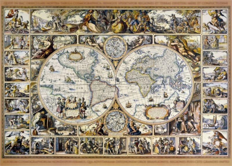 Puzzle DINO 3000 dílků - Mapa
