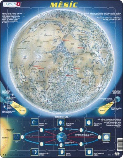 LARSEN Puzzle Mapa Měsíce 70 dílků