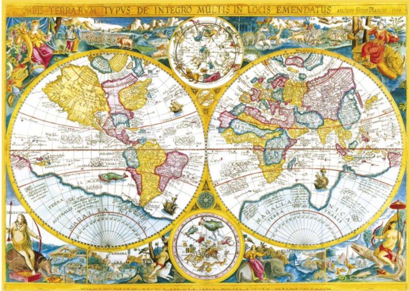 Puzzle CLEMENTONI 4000 dílků - Mapa r.1594